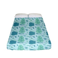 Flowers And Leaves Pattern Fitted Sheet (full/ Double Size) by TastefulDesigns