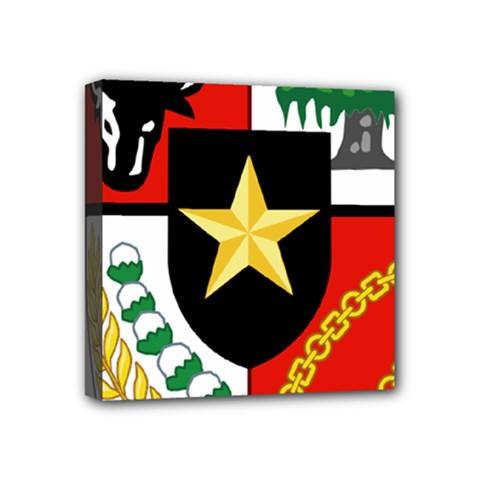 Shield Of National Emblem Of Indonesia Mini Canvas 4  X 4  by abbeyz71