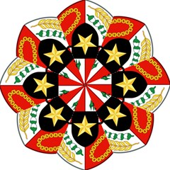 Shield Of National Emblem Of Indonesia Folding Umbrellas by abbeyz71