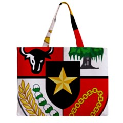 Shield Of National Emblem Of Indonesia Zipper Mini Tote Bag by abbeyz71