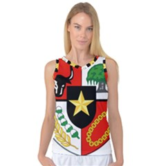 Shield Of National Emblem Of Indonesia Women s Basketball Tank Top by abbeyz71