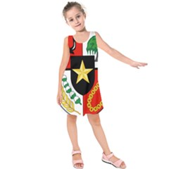 Shield Of National Emblem Of Indonesia Kids  Sleeveless Dress by abbeyz71