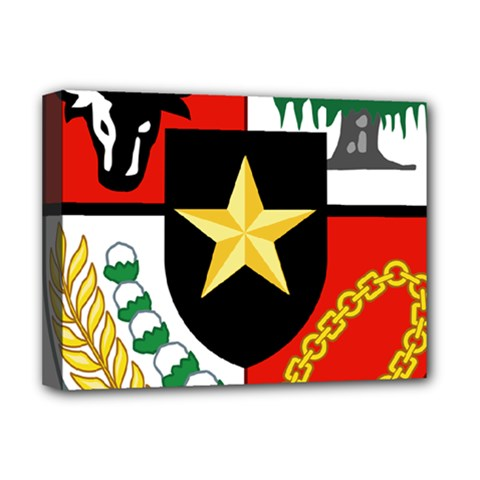 Shield Of National Emblem Of Indonesia  Deluxe Canvas 16  X 12   by abbeyz71