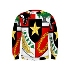 Shield Of National Emblem Of Indonesia  Kids  Sweatshirt by abbeyz71