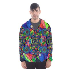 Out Of Body Activation Grid   Hooded Wind Breaker (men) by tealswan