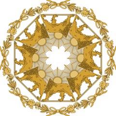 Lion & Sun Emblem Of Persia (iran) Straight Umbrellas by abbeyz71