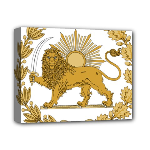 Lion & Sun Emblem Of Persia (iran) Deluxe Canvas 14  X 11  by abbeyz71