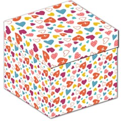 Colorful Bright Hearts Pattern Storage Stool 12   by TastefulDesigns