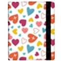 Colorful Bright Hearts Pattern Samsung Galaxy Tab 8.9  P7300 Flip Case View2