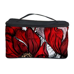 Red Flowers Pattern Cosmetic Storage Case