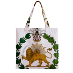 Imperial Coat Of Arms Of Persia (iran), 1907 1925 Zipper Grocery Tote Bag