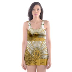 Imperial Coat Of Arms Of Persia (iran), 1907 1925 Skater Dress Swimsuit by abbeyz71