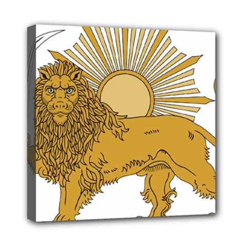 National Emblem Of Iran, Provisional Government Of Iran, 1979 1980 Mini Canvas 8  X 8  by abbeyz71