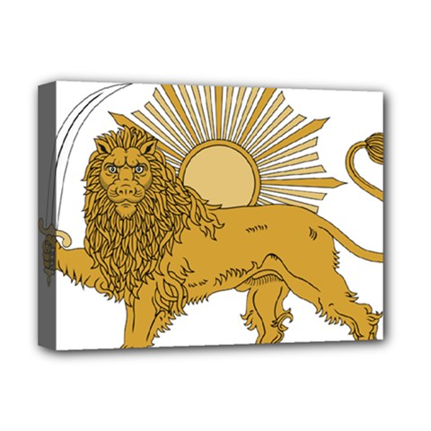 National Emblem Of Iran, Provisional Government Of Iran, 1979 1980 Deluxe Canvas 16  X 12   by abbeyz71