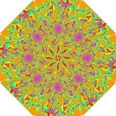 Magic Ripples Flower Power Mandala Neon Colored Hook Handle Umbrellas (small) by EDDArt
