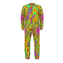 Magic Ripples Flower Power Mandala Neon Colored Onepiece Jumpsuit (kids) by EDDArt