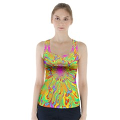 Magic Ripples Flower Power Mandala Neon Colored Racer Back Sports Top by EDDArt