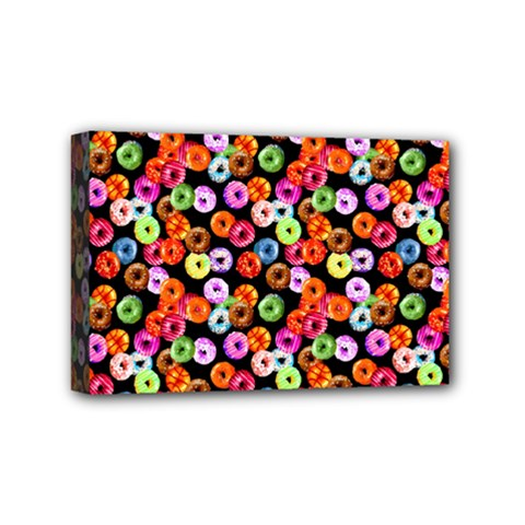 Colorful Yummy Donuts Pattern Mini Canvas 6  X 4  by EDDArt