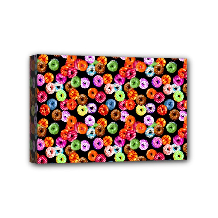 Colorful Yummy Donuts Pattern Mini Canvas 6  x 4