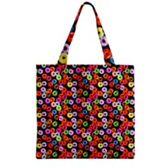 Colorful Yummy Donuts Pattern Grocery Tote Bag by EDDArt