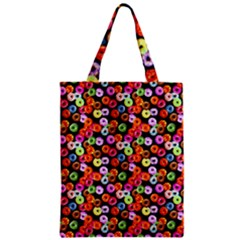 Colorful Yummy Donuts Pattern Zipper Classic Tote Bag by EDDArt