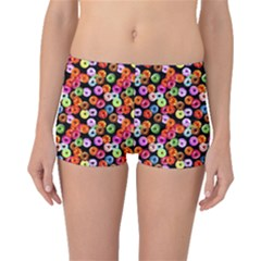 Colorful Yummy Donuts Pattern Boyleg Bikini Bottoms by EDDArt