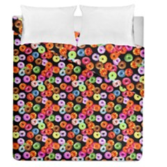 Colorful Yummy Donuts Pattern Duvet Cover Double Side (queen Size) by EDDArt