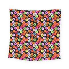 Colorful Yummy Donuts Pattern Square Tapestry (small) by EDDArt