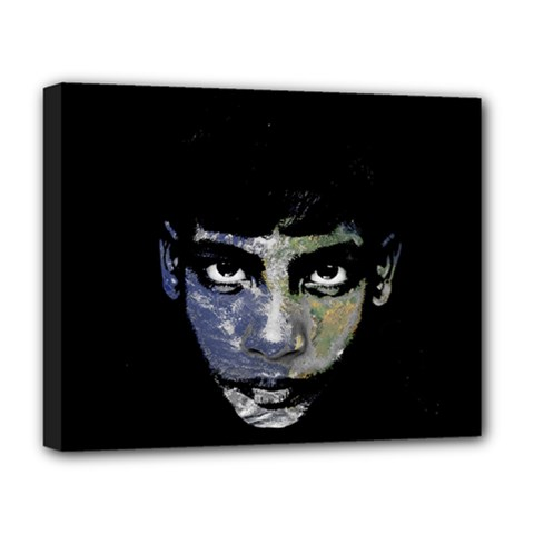 Wild Child  Deluxe Canvas 20  X 16   by Valentinaart