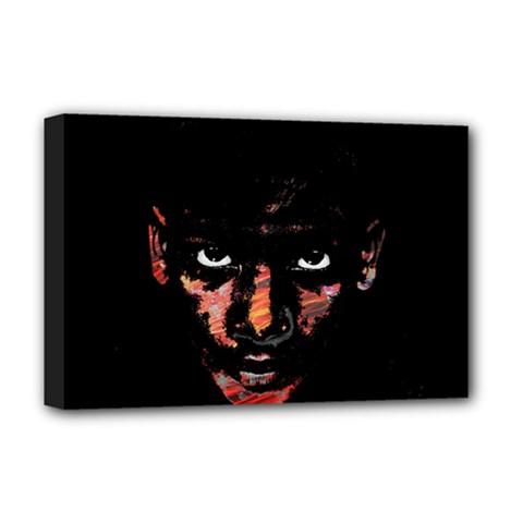 Wild Child  Deluxe Canvas 18  X 12   by Valentinaart
