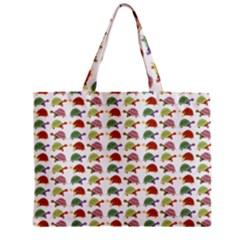 Turtle Pattern Zipper Mini Tote Bag by Valentinaart