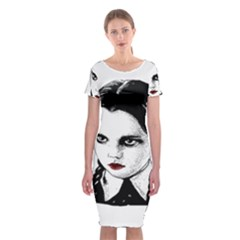 Wednesday Addams Classic Short Sleeve Midi Dress by Valentinaart