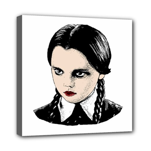 Wednesday Addams Mini Canvas 8  x 8