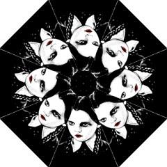 Wednesday Addams Hook Handle Umbrellas (large) by Valentinaart