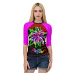 fantasy flower - Women s Quarter Sleeve Raglan Tee