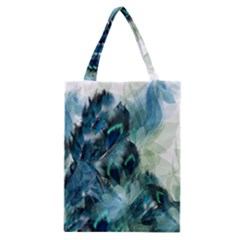 Flowers And Feathers Background Design Classic Tote Bag by TastefulDesigns