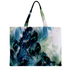 Flowers And Feathers Background Design Zipper Mini Tote Bag by TastefulDesigns