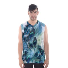 Flowers And Feathers Background Design Men s Basketball Tank Top by TastefulDesigns