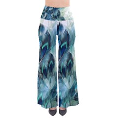Flowers And Feathers Background Design Pants by TastefulDesigns