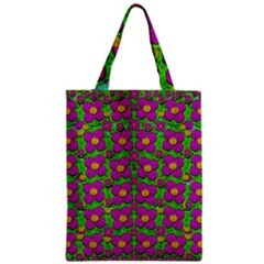 Bohemian Big Flower Of The Power In Rainbows Zipper Classic Tote Bag by pepitasart