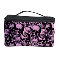 Skulls Pattern  Cosmetic Storage Case by Valentinaart