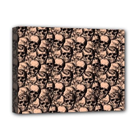 Skulls Pattern  Deluxe Canvas 16  X 12   by Valentinaart
