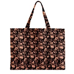 Skulls Pattern  Zipper Mini Tote Bag by Valentinaart