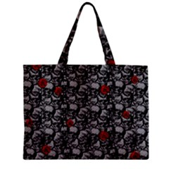 Skulls And Roses Pattern  Zipper Mini Tote Bag by Valentinaart