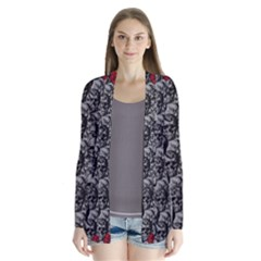 Skulls And Roses Pattern  Cardigans by Valentinaart