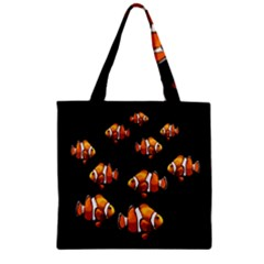 Clown Fish Zipper Grocery Tote Bag by Valentinaart