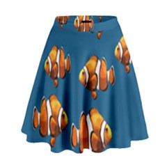 Clown Fish High Waist Skirt by Valentinaart