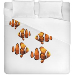 Clown Fish Duvet Cover (king Size) by Valentinaart