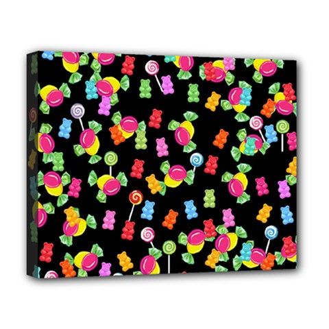 Candy Pattern Deluxe Canvas 20  X 16   by Valentinaart