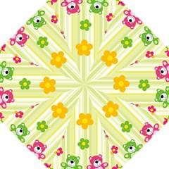 Animals Bear Flower Floral Line Red Green Pink Yellow Sunflower Star Hook Handle Umbrellas (medium) by Mariart